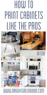 Professional Painting Kitchen Cabinets Inspiration How To Spray Paint Cabinets Like The Pros DIY Home Decor Ideas