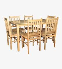 Lets Furnish Solid Rubberwood Dining Set Lets Furnish