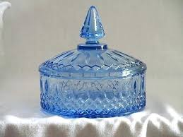 glass candy dishes with lids vintage ice blue depression pressed glass candy dish lid carnival glass