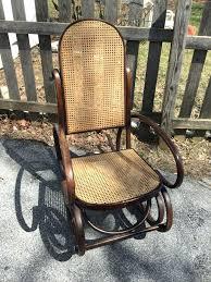 antique bentwood rocking chair vintage bentwood rocker with cane back and seat walnut finish rocking chair