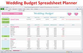 Wedding Planning Budget Calculator Wedding Budget Spreadsheet Excel Wedding Planner Pro Version