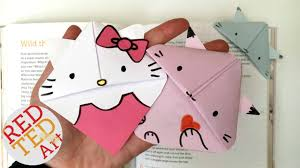 easy cat bookmark o kitty kawaii kitten kitten paper crafts readalong you