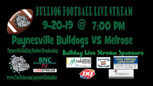 Design Portrait Studio Paynesville Mn 9 20 19 Paynesville Bulldog Football Vs Melrose High School