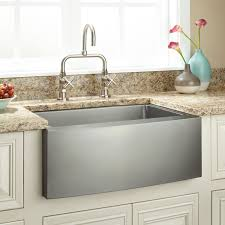 24 fournier stainless steel farmhouse sink curved a