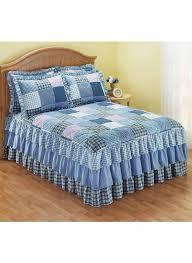 triple ruffle bedding separates loading zoom