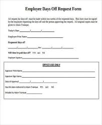 Days Off Request Form Template Request Day Off Form Under Fontanacountryinn Com