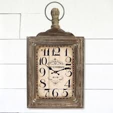 rectangular pocket watch wall clock