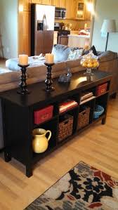 What Is A Sofa Table Awesome Contemporary Design Dark Brown Coated Finish  Narrow Rectangle Fiberboard Convinient Storage Feature Decoration