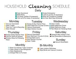 House Cleaning Chart Household Cleaning Schedule Household Cleaning Schedule