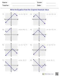graphing absolute value equations worksheet abitlikethis absolute value insert clever math pun here