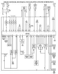solved 98 ford contour wiring diagram fixya 1998 99 contour mystique cougar ztec engine schematics