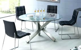 round glass dining table and chairs modern trend new design set mid century din