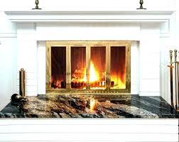 installing fireplace doors stylish fireplace glass