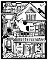 Small Picture Haunted House Coloring Haunted houses Worksheets and House