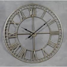 Small Picture HH Extra Large Metal Skeleton Wall Clock Silver HH