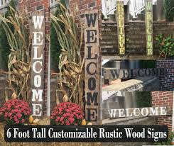 Wood Address Signs Outdoor Decor Wood welcome signs Wooden welcome sign Rustic welcome sign 35