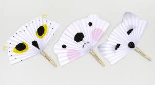 hand fan template. diy arctic animal paper fans hand fan template \