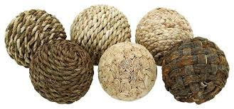 Decorative Woven Balls Simple Balls Woven Set Of 32 Shades Of Brown Beige Accent Home Decor 32