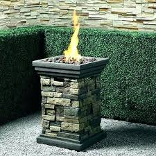 fire pit column gas outdoor cover target