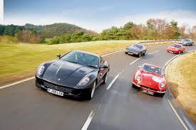 Ferrari 599 GTB vs 275 GTB, Daytona, 550 Maranello and 575M | Evo