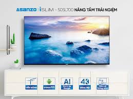 Smart Tivi Asanzo 50 inch ISLIM 4K 50SL700 giá rẻ, chính hãng HCM