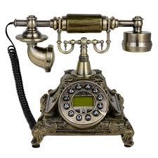 retro style electronic rotary telephone