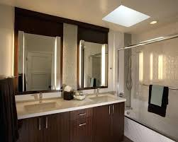 mirror tile backsplash diy ideas for bathroom white round sink rectangle wooden black dark brown tall
