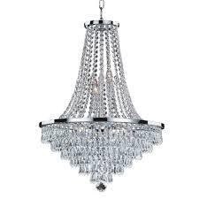 glow lighting vista 9 light crystal and chrome frame chandelier