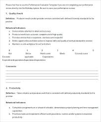 Annual Performance Review Form Employee Evaluation Template Yearly ...