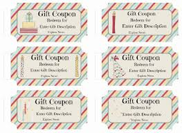 Personalised Gift Vouchers Templates Free Custom Birthday Coupons Customize Online Print At Home