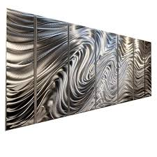 large silver metal wall art sculpture painting contemporary decor by jon allen on modern metal wall art ebay with silver modern abstract metal wall art office decor by jon allen