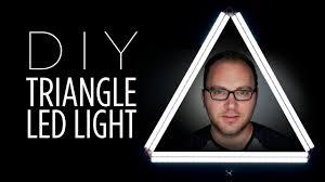 diy triangle ring led light