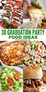 Covered in a vanilla candy coating and crushed nuts, it has that wonderful combination of soft, juicy, and crunchy textures. 30 Must Make Graduation Party Food Ideas Oh My Creative