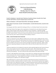 City Council Special Meeting LEAN Workshop Monday, March 9, 6:00 p.m.  Bessie Rowell Community Center