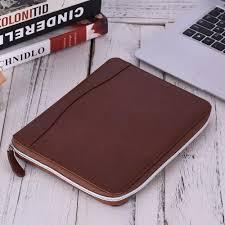 leather padfolio business portfolio holder organizer folder doent storage with zippered closure share