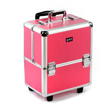 vanity case makeup trolley box pink and silver frame eyelashes direct uk