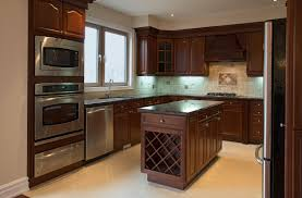 Interiors For Kitchen Great Kitchen Interior Design Furnished Elegant Brown By Kitchen