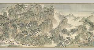 the kangxi emperors southern inspection tour scroll three jinan to mount tai