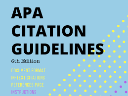 Apa Citation Guidelines By Lauratorresela Teaching Resources Tes