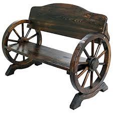 wooden cart wheel bench for in uk