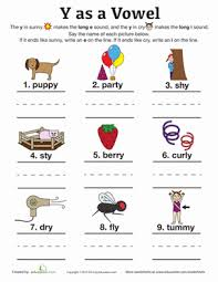 There are differences in opinion about whether using phonics is useful in teaching children to read. Y As A Vowel Worksheet Education Com