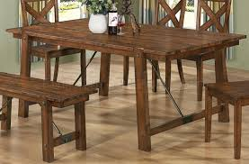 Lawson Dining Table in Rustic Oak Finish by Coaster