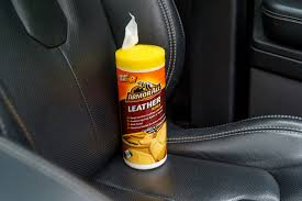 we tried out armor all s leather and dashboard wipes they contain beeswax for added protection and to combat stains the wipes were ideal for removing dirt
