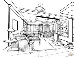 Living Room Coloring Large Living Room Coloring Page Free Printable Coloring Pages
