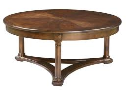 Furniture: Beautiful Natural Low Thick Wood Round Coffee Table Design With  Crack In The Middle