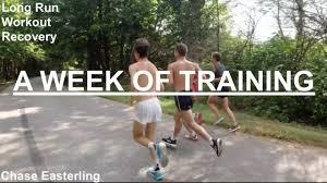 a week of long distance running
