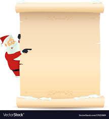 Blank Christmas List Santa Pointing Christmas List