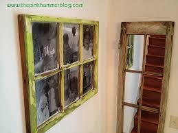 old window new frame wall art diy pink hammer blog