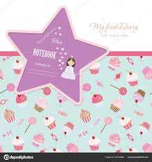 Cute Template Cute Template For Notebook Cover Girls My First Diary Included