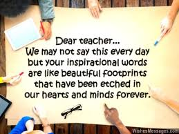 Beautiful Quotes On Teachers Best Of Thank You Notes For Teacher Messages And Quotes WishesMessages